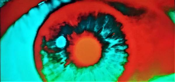 Photograph - 2001 Eyeball Blue Red by Rob Hans