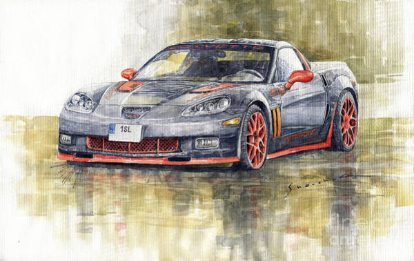 Commission Wall Art - Painting - 2006 Chevrolet Corvette C6z06 by Yuriy Shevchuk