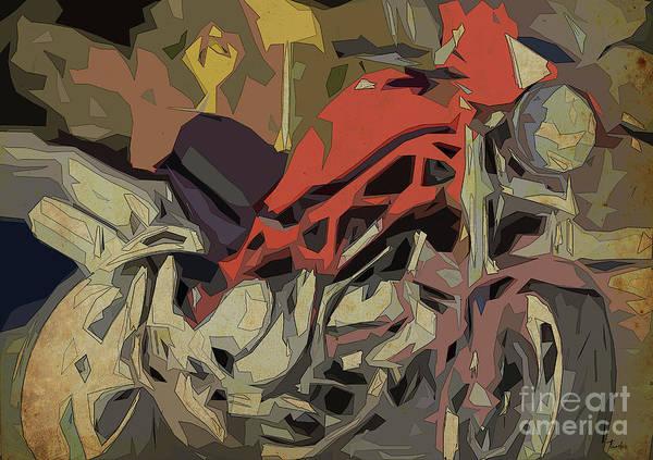 Thanksgiving Digital Art - 2006 Ducati Monster S2r 1000 Abstract Artwork by Drawspots Illustrations
