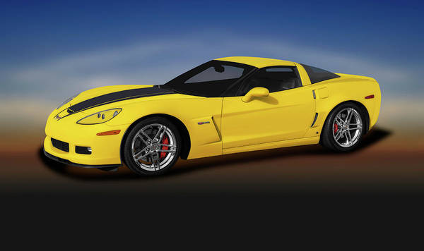 Wall Art - Photograph - 2007 C6 Chevrolet Corvette Zo6  -  2007chevyc6corvettezo6coupe196728 by Frank J Benz