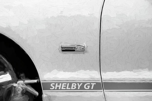 Photograph - 2007 Ford Mustang Shelby Gt Painted Bw 101 by Rich Franco