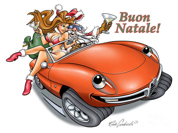 2009 Alfa Club Christmas Card Art Print