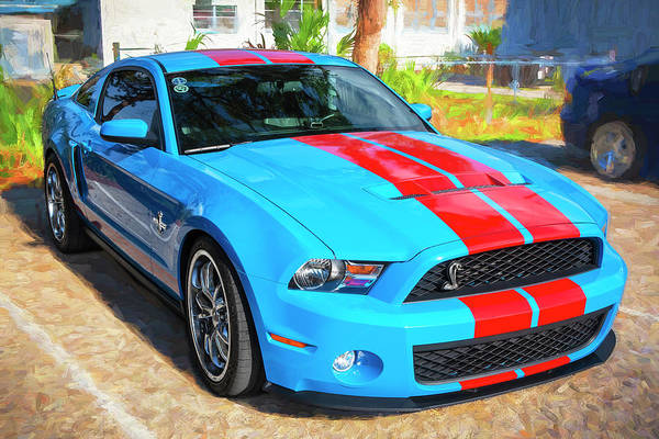 Photograph - 2010 Ford Shelby Mustang Gt500 001 by Rich Franco