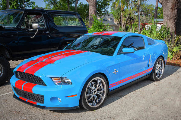Photograph - 2010 Ford Shelby Mustang Gt500 Super Snake 750hp 002 by Rich Franco