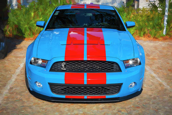 Photograph - 2010 Ford Shelby Mustang Gt500 Super Snake 750hp 003 by Rich Franco