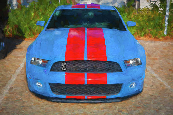 Photograph - 2010 Ford Shelby Mustang Gt500 Super Snake 750hp 005 by Rich Franco