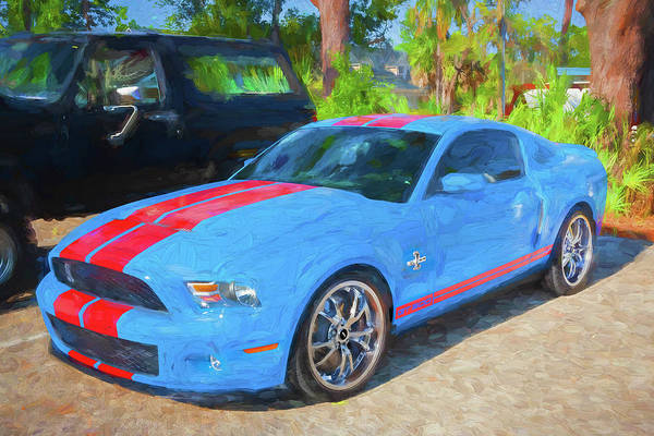 Photograph - 2010 Ford Shelby Mustang Gt500 Super Snake 750hp 007 by Rich Franco