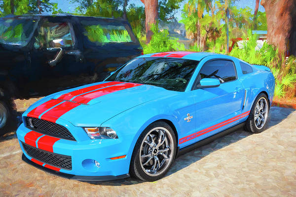 Photograph - 2010 Ford Shelby Mustang Gt500 Super Snake 750hp 009 by Rich Franco