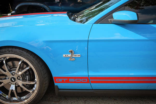 Photograph - 2010 Ford Shelby Mustang Gt500 Super Snake 750hp 010 by Rich Franco