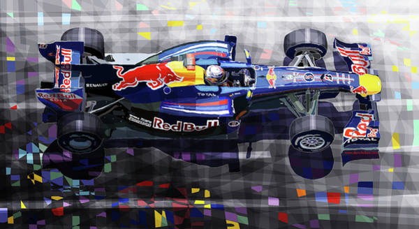 Wall Art - Mixed Media - 2010 Red Bull Rb6 Vettel by Yuriy Shevchuk