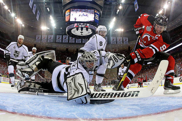 Ice Hockey Photograph - 2012 Stanley Cup Finals - Game 1  Los by Bruce Bennett