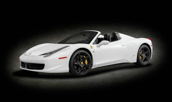 458 Photograph - 2014 Ferrari 458 Spider  -  2014ferrari458spiderspottext186067 by Frank J Benz