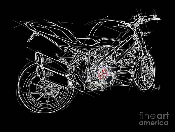 Wall Art - Digital Art - 2015 Motorcycle by Drawspots Illustrations