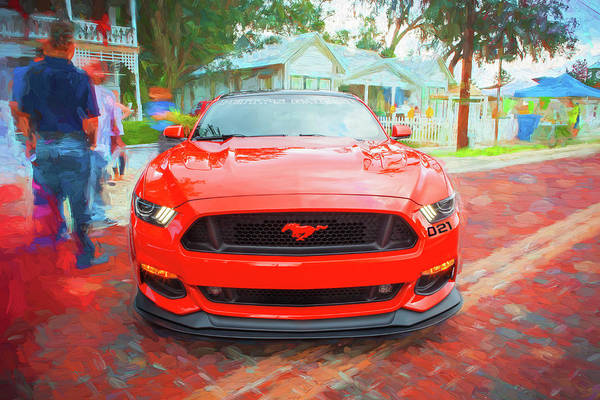 Photograph - 2016 Ford Mustang Petty's Garage 004 by Rich Franco