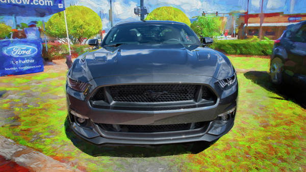 Photograph - 2017 Ford Gray Mustang 5.0 101 by Rich Franco
