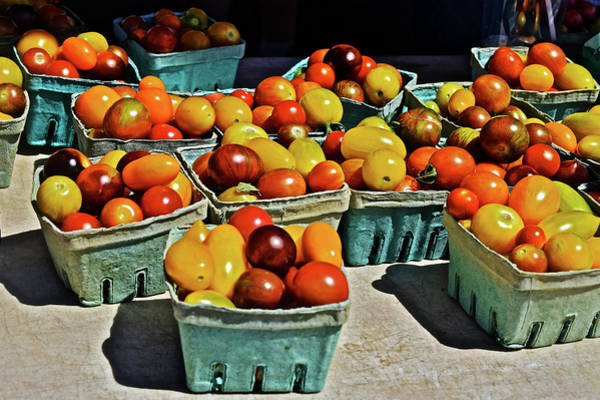Photograph - 2017 Monona Farmers' Market Heirloom Cherry Tomatoes by Janis Nussbaum Senungetuk
