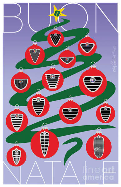 2018 Alfa Club Christmas Card Art Print