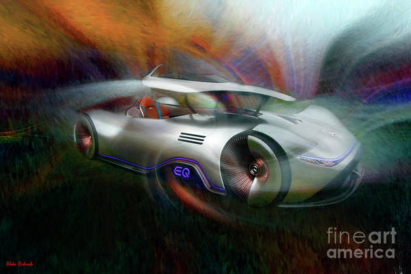 Photograph - 2018 Mercedes Eq Silver Arrow Concept Car  by Blake Richards