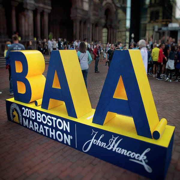 Photograph - 2019 Boston Athletic Association Marathon Display by Joann Vitali