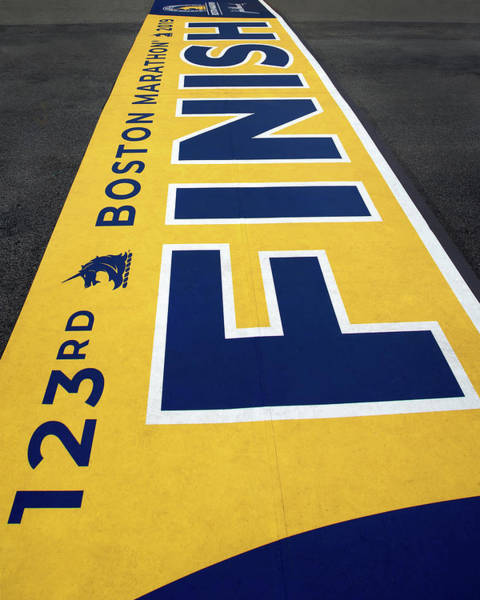 Photograph - 2019 Boston Marathon Finish Line by Joann Vitali