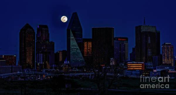 Wall Art - Photograph - 2019 Dallas Texas Super Moon by Charles Dobbs