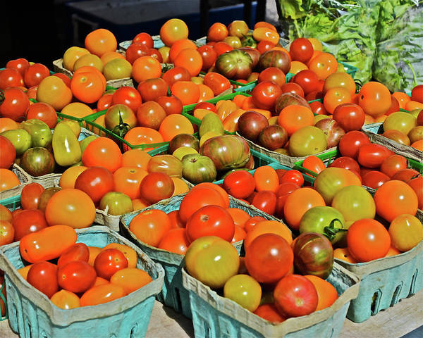 Photograph - 2019 Farmers' Market Spring Green Cherry Tomatoes by Janis Nussbaum Senungetuk