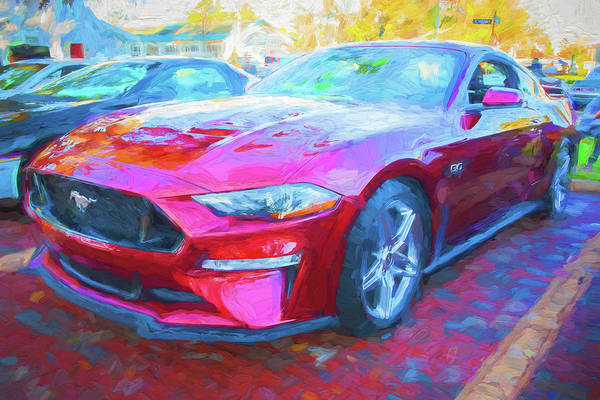 Photograph - 2019 Ford Mustang Gt 5.0 001 by Rich Franco