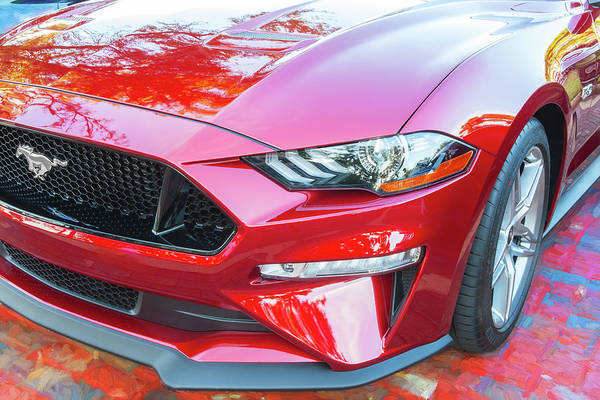 Photograph - 2019 Ford Mustang Gt 5.0  005 by Rich Franco