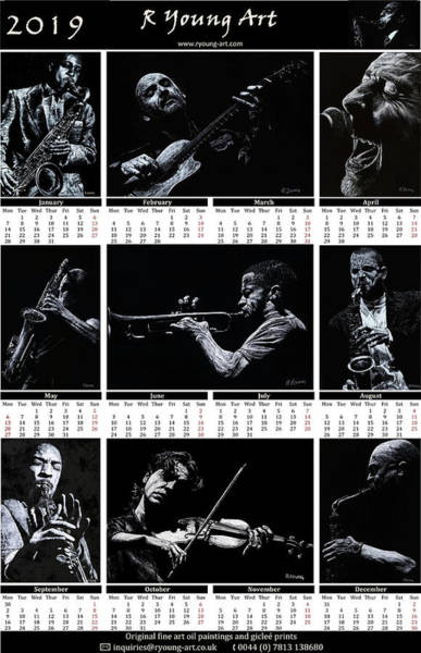 Wall Art - Painting - 2019 High Resolution R Young Art Musicians Calendar by Richard Young