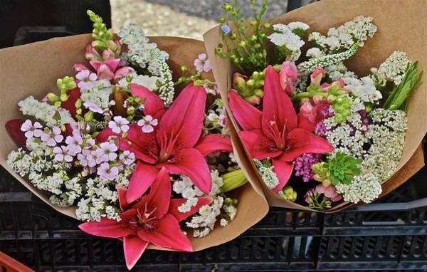 Photograph - 2019 Monona Farmers' Market July Bouquets 1 by Janis Nussbaum Senungetuk