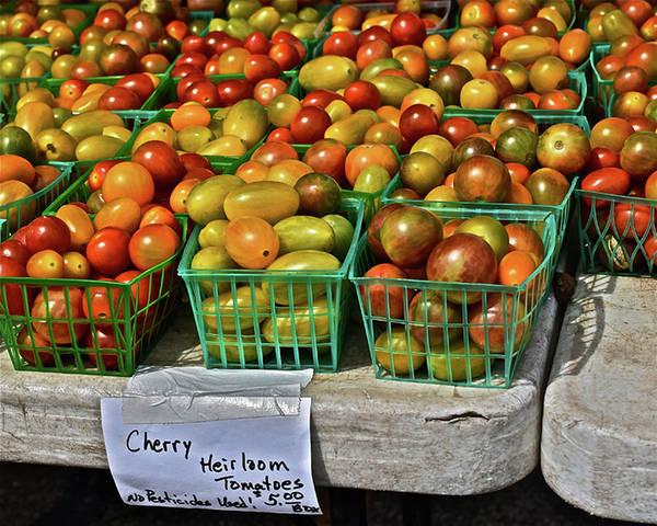 Photograph - 2019 Monona Farmers' Market July Cherry Tomatoes by Janis Nussbaum Senungetuk