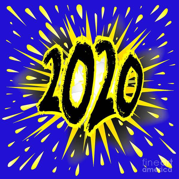 Detonation Digital Art - 2020 Cartoon Explosion by Bigalbaloo Stock