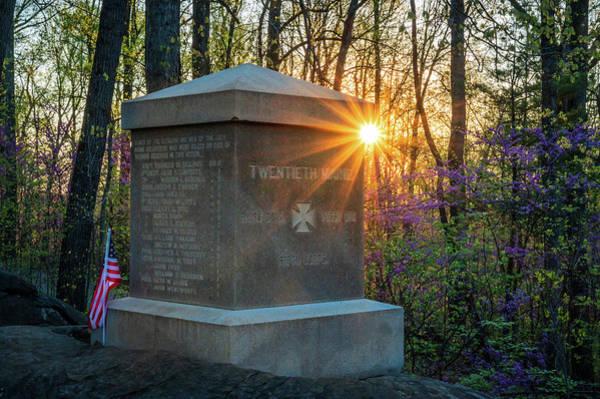 Photograph - 20th Maine Sunrise by Dan Urban