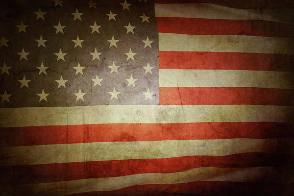 Wall Art - Photograph - American Flag No.194 by Les Cunliffe