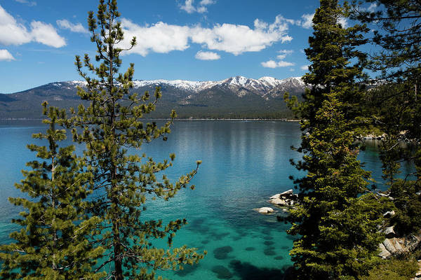 Wall Art - Photograph - Lake With Mountain Range by Panoramic Images