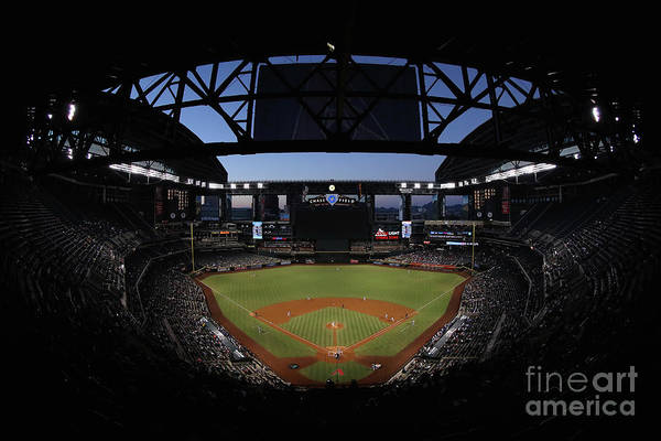Photograph - Los Angeles Dodgers V Arizona by Christian Petersen