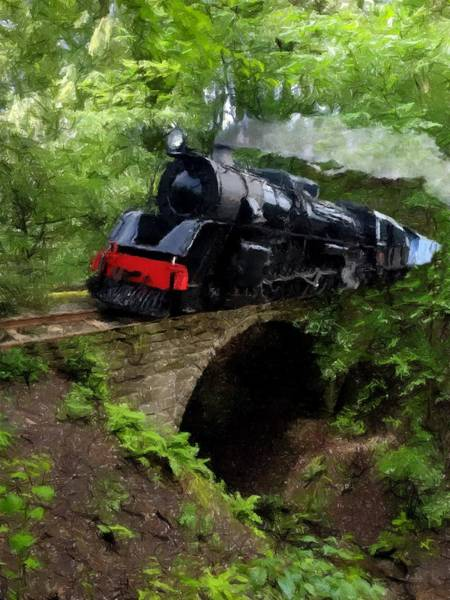 Mixed Media - 21 With Train by David Dehner