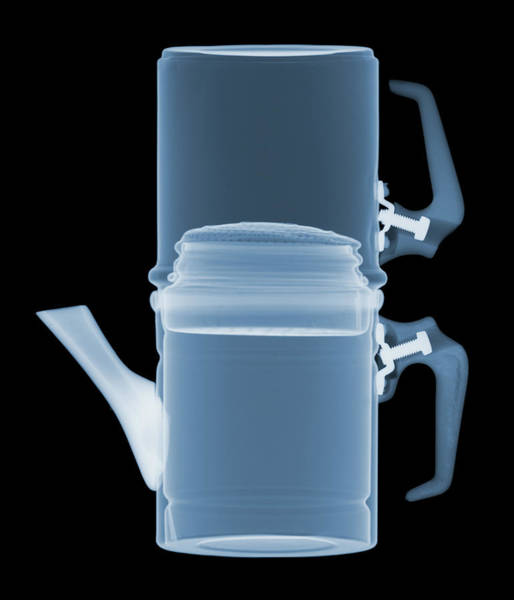 Photograph - X-ray Of A Coffee Pot by Ted M. Kinsman