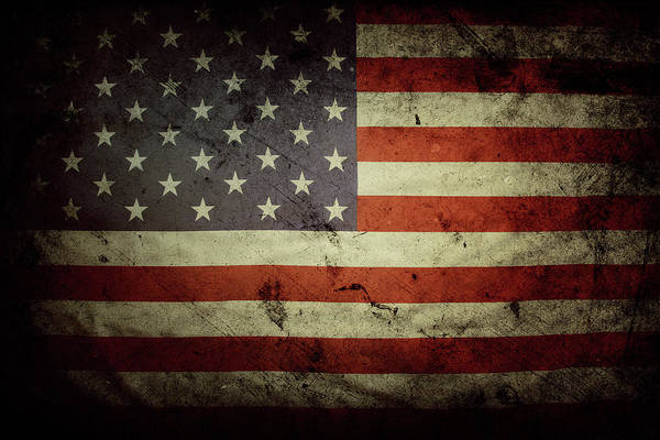 Wall Art - Photograph - American Flag No.195 by Les Cunliffe
