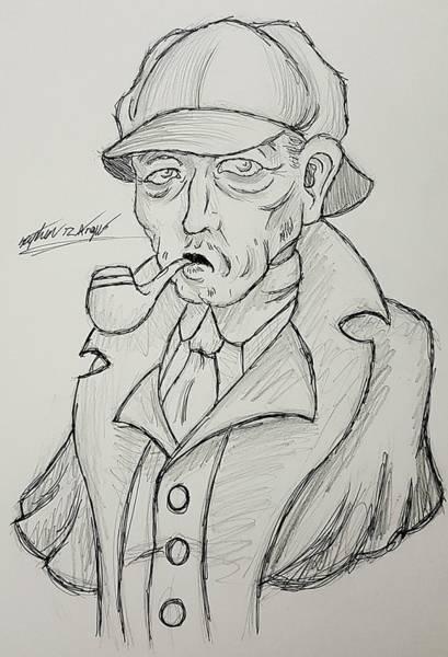 Wall Art - Drawing - 221b Baker Street by Stephen Angus