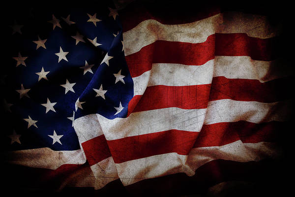 Wall Art - Photograph - American Flag No.196 by Les Cunliffe