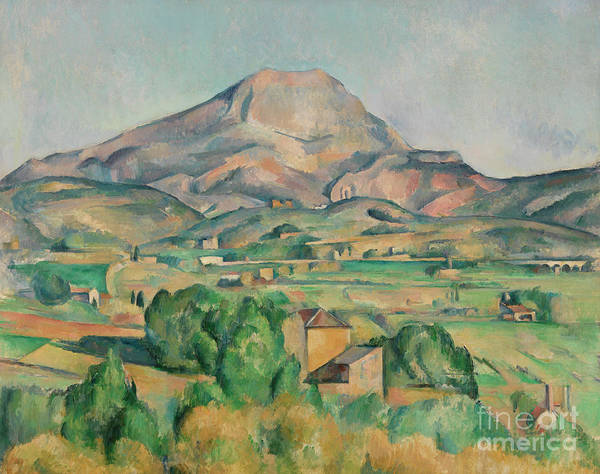 Wall Art - Painting - Mont Sainte-victoire by Paul Cezanne