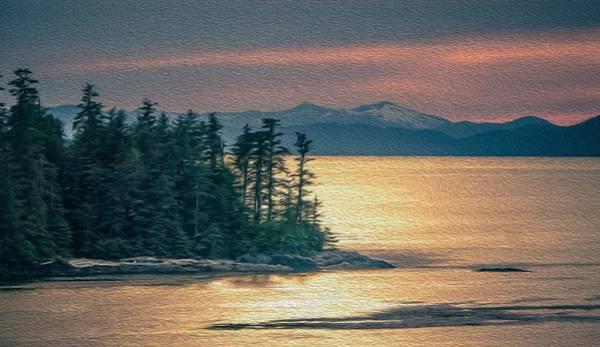 Digital Art - Beautiful Landscape In Alaska Mountains  by Alex Grichenko