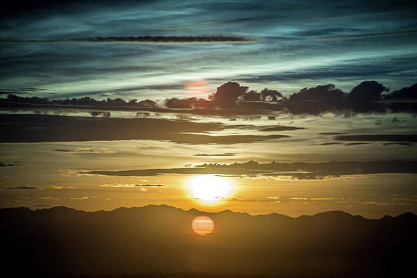 Photograph - Early Morning Sunrise Over Valley Of Fire And Las Vegas by Alex Grichenko
