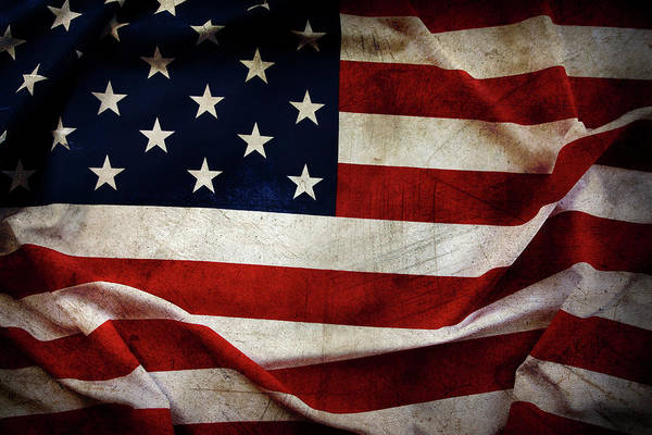 Wall Art - Photograph - American Flag No.197 by Les Cunliffe