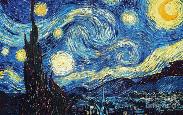 Painting - Starry Night By Van Gogh by Vincent Van Gogh