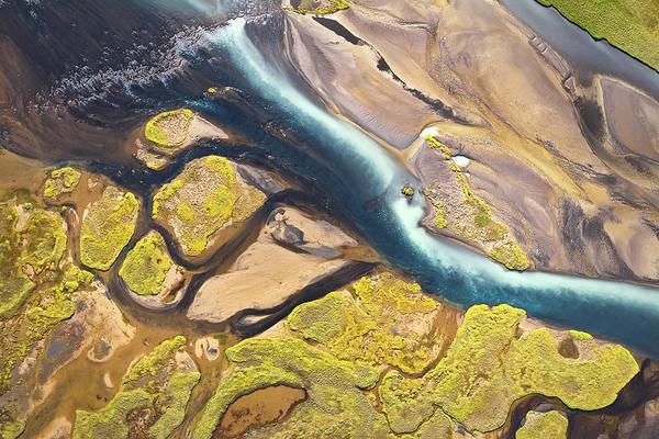 Iceland Aerial View Art Print by Werner Van Steen