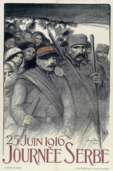 Wall Art - Painting - 25 Juin 1916, Journee Serbe - Digital Remastered Edition by Theophile Alexandre Steinlen