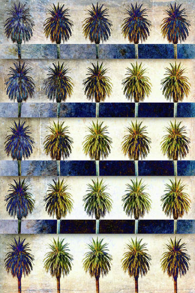 Experiment Wall Art - Mixed Media - 25 Palms by Carol Leigh