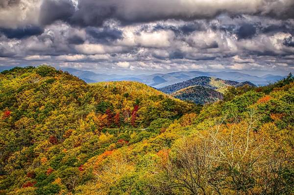 Photograph - Blue Ridge And Smoky Mountains Changing Color In Fall by Alex Grichenko